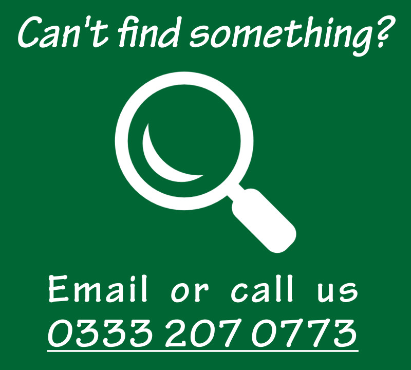 Can't find what you're looking for? Call us 0333 207 0773