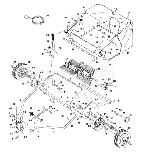 diagram lawn mower sweeper agri-fab 45-0331 38 tow lawn sweeper spare parts | mowers ... lawn mower fuel filter #11