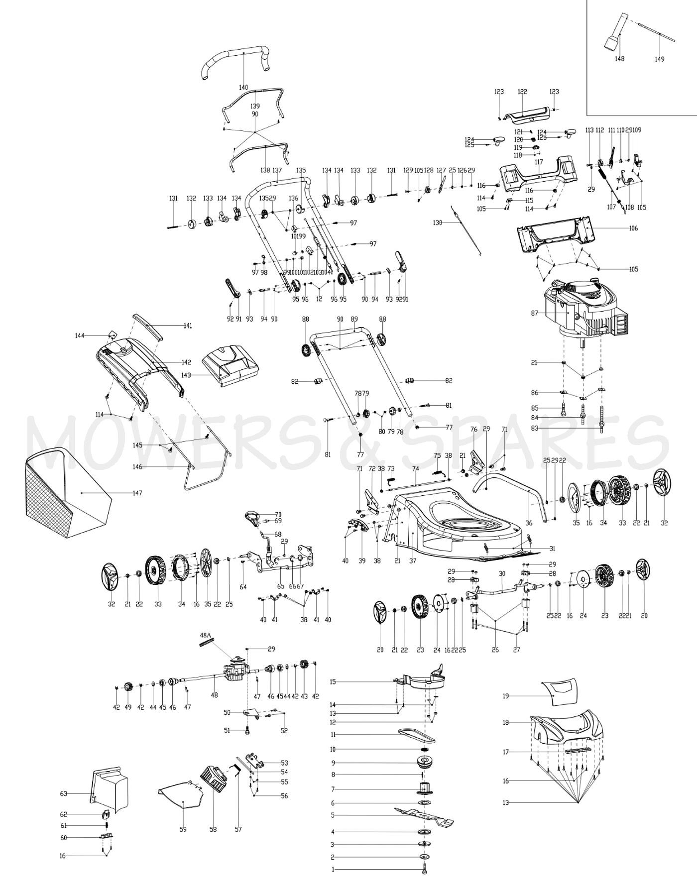 Castelgarden Spare Parts List