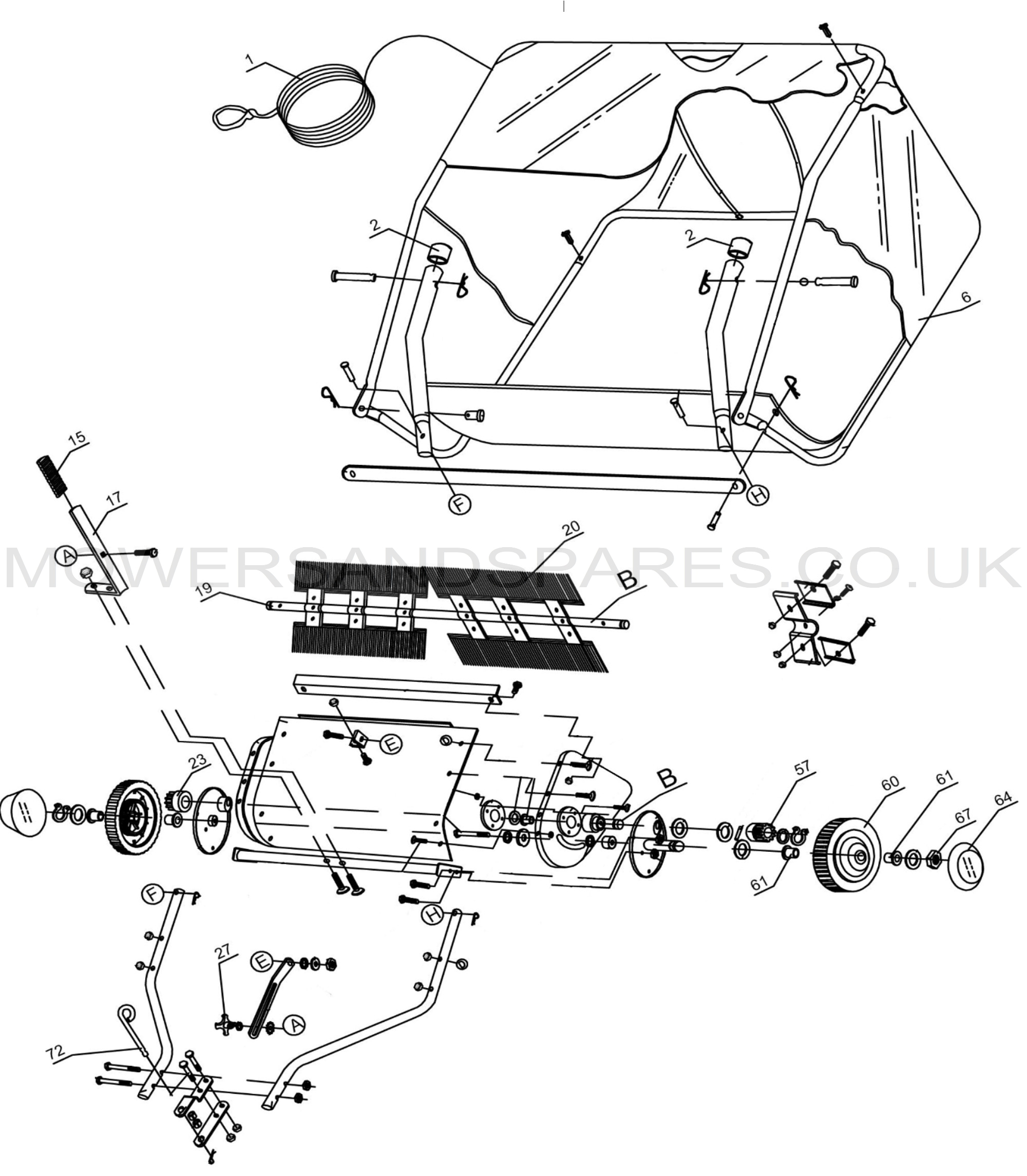 diagram lawn mower sweeper online wiring diagram Lawn Sweepers at Home Depot cobra tls97 sweeper spare parts mowers \u0026 spares diagram lawn mower sweeper