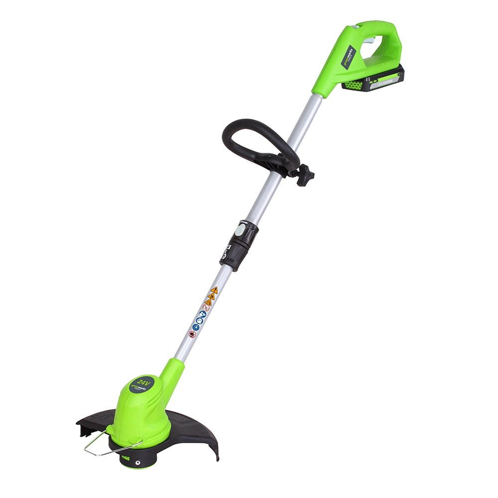 GreenWorks 24V Deluxe Cordless Grass Trimmer with 2Ah ...