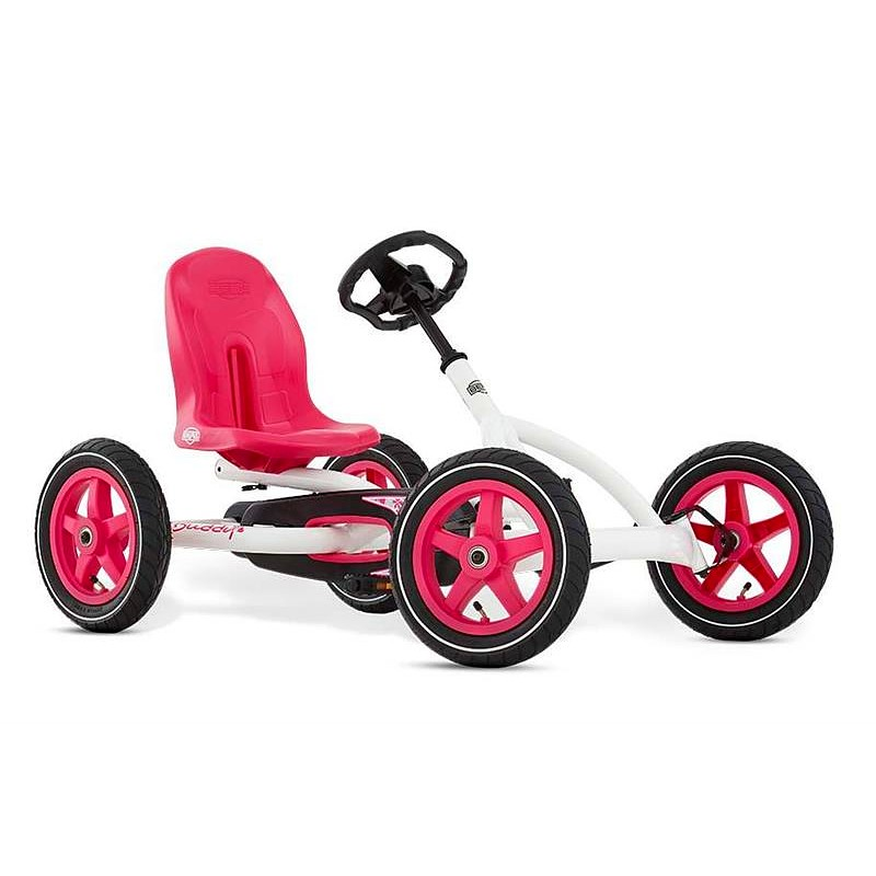 BERG Buddy White Go-Kart - Ages 3 to 8